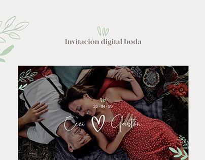 Invitación digital boda