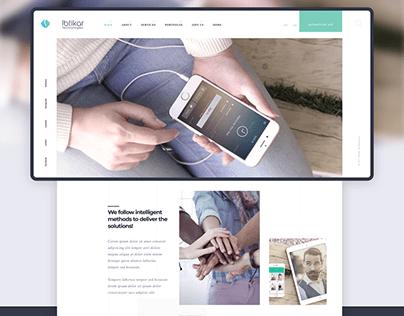 Ibtikar modern website