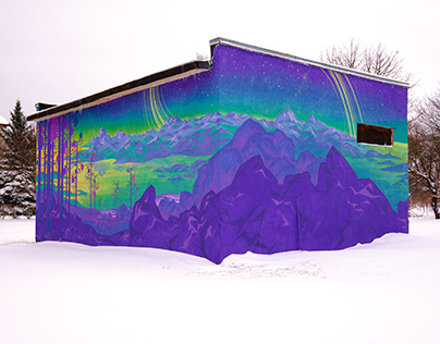 "Mural ""Rocky shores"" Winter edition"