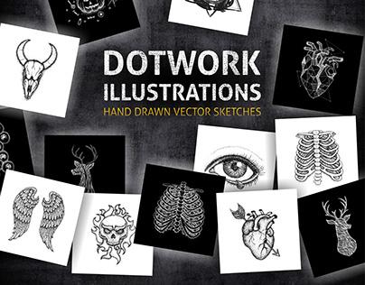 Dotwork Vector Illustrations