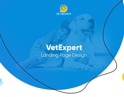 VetExpert Landing Page Design