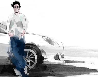 Alfa Romeo Giulietta, digital sketch.