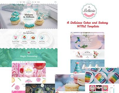 Bellaria Cake & Bakery HTML Template