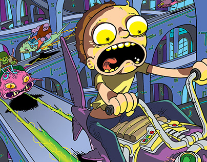 Rick and Morty Comic Covers