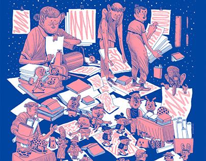 GBG LITTERATURHUS julmarknad poster