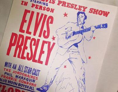 Hand made Elvis 50´ poster
