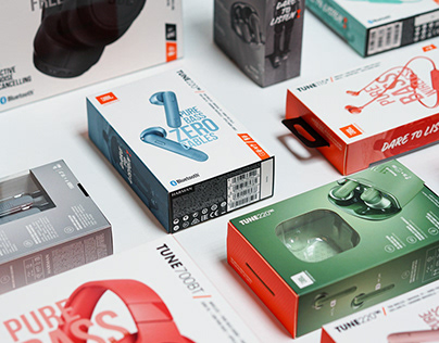 JBL TUNE SERIES HEADPHONE PACKAGING DESIGN