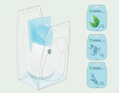 STEAM INHALER & REFILL PADS — Package Redesign
