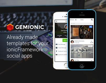 Gemionic - Social IonicFramework App Theme