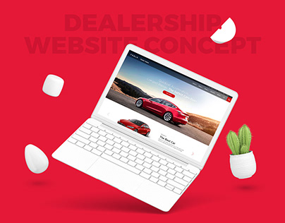Tesla Dealership Website Concept