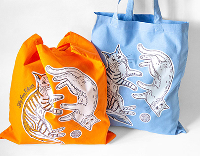 Designer Tote Bags with Cats