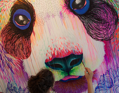 Studio Mural - Panda Delight