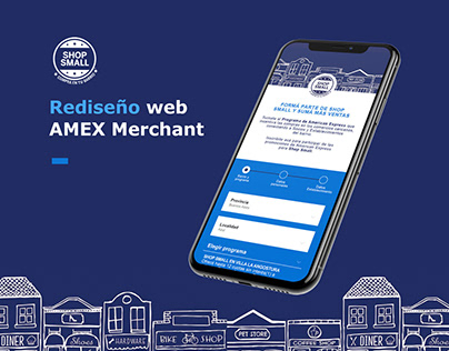 Redesign UX - AMEX SHOP SMALL
