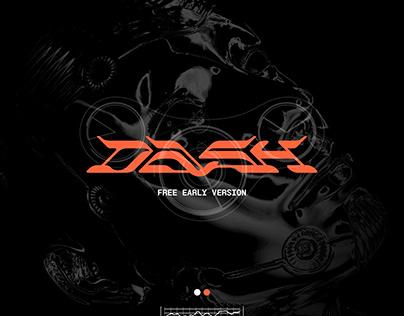 DASH Early Display Font (free)