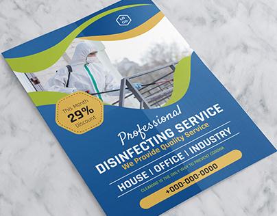 Corona Virus Disinfecting Service Flyer