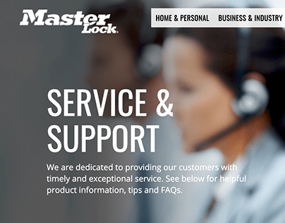 Master Lock Service & Support Redesign