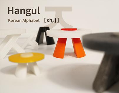 한글 Hangul : Korean Alphabet ' ㅈ'