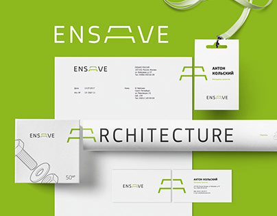 Ensave. Corporate identity system