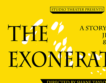 Theatre Poster for the play The Exonerated