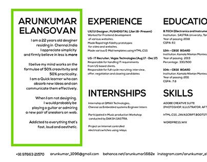 Resume CV -2018