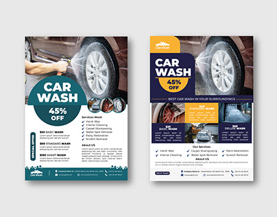 Car Washing Service Flyer Template Design