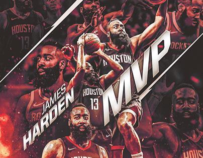NBA Art | James Harden #13 | MVP 2018 | v2