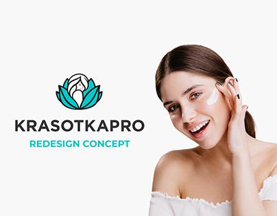 KRASOTKAPRO redesign concept