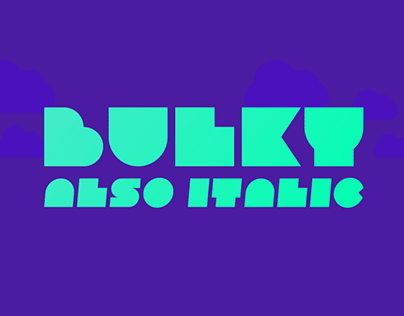Bulky | Free font