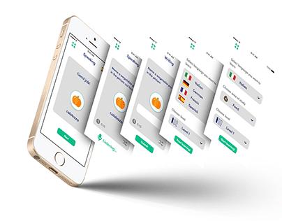 Language Learning App UI design: XD Creative Challenge
