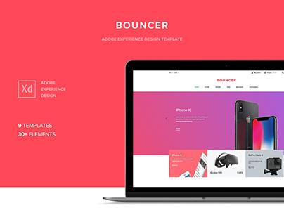Bouncer Ecommerce UI Kit | Adobe XD