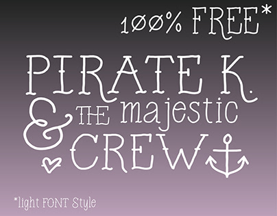 FREE | Pirate K. font | light