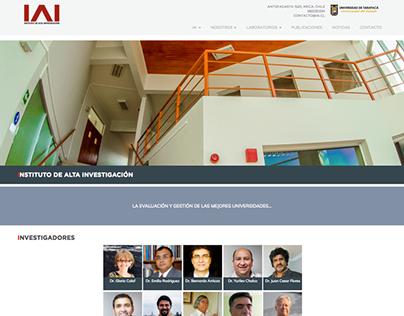 Website corporativo Instituto de Alta Investigación IAI