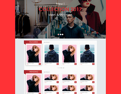 Brake Clothing apparel website template