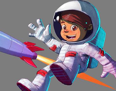 Little Astronaut- Speedpainting session