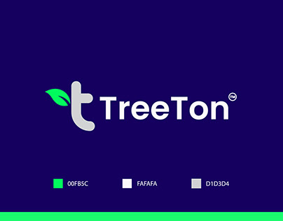 TREETON LOGO BRANDING - (T+LEAF) MARK