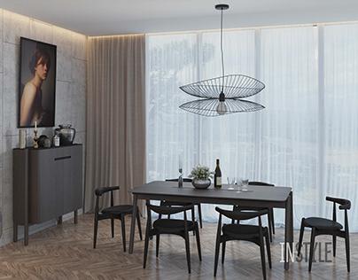 Dinner table & cupboard FRIENDLY by Andriy Mohyla