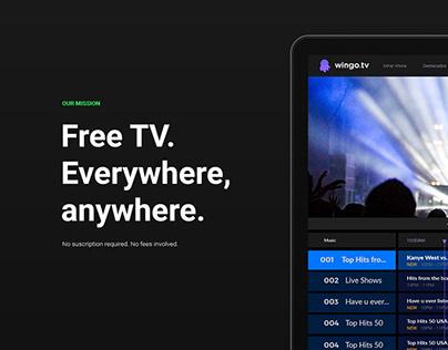 Wingo.tv — Logo & UX/UI