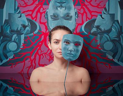 """The song of Creator""  120x120 cm Acrylic/canvas"