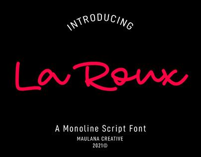 La Roux Monoline Script Font