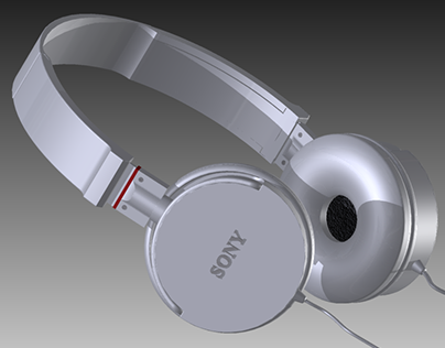 3D Modeling  - Headphone Sony
