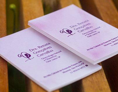 Cartões de visita para Dra. Renata Gonçalves Carvalho