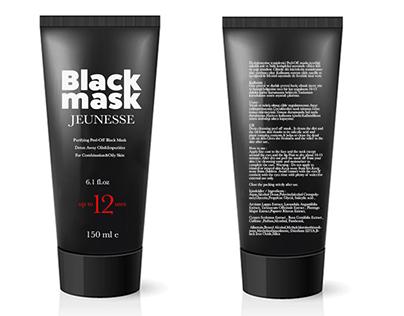 Black Mask Cosmetic Design