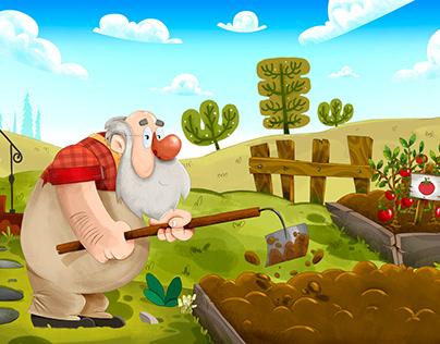 "Children's Book - ""O Nabo Gigante"""