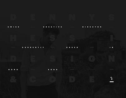 Portfolio Site: dennyshess.ch