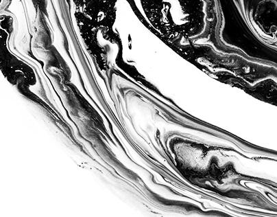 Ink marble landscapes.