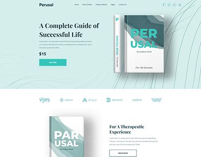 Perusal - Online Bookstore Website Template