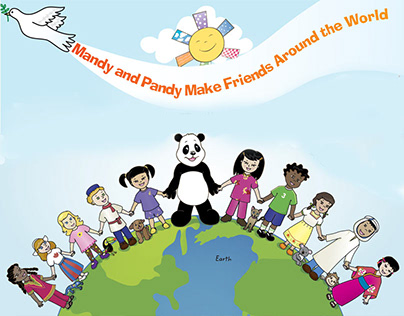Mandy and Pandy bilingual books illustrations & layout