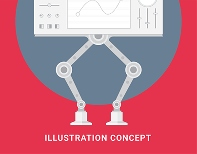 AI CMS - Illustration concept
