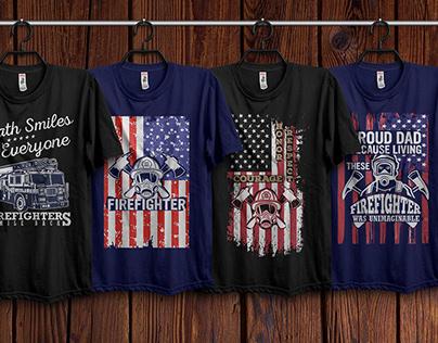 Firefighter T-Shirts Design Bundle 02