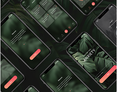 Overcome your anxiety - mobile app UI and UX design